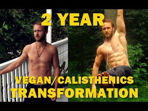 2 Year Transformation - Vegan/Calisthenics