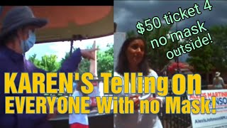 POLITICIAN REFUSES, COPS GIVING $50 TICKETS FOR NO MASK OUTSIDE & WARN IT'S GOING UP TO $100!