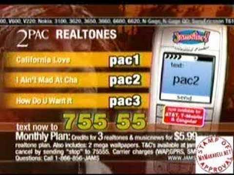 Tupac Ringtone Commercial