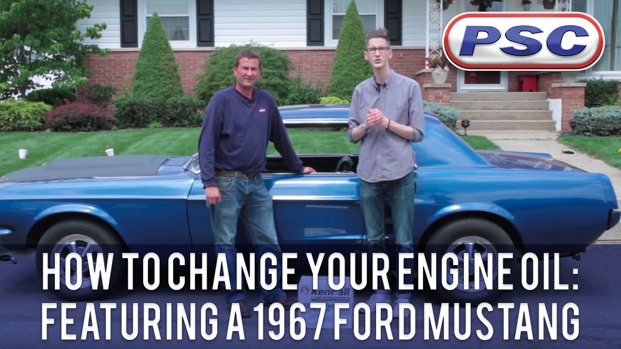 how to change your engine oil featuring a 1967 ford. Black Bedroom Furniture Sets. Home Design Ideas