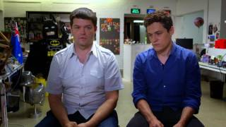 The LEGO Batman Movie: Producers Phil Lord & Christopher Miller Behind the Scenes Interview