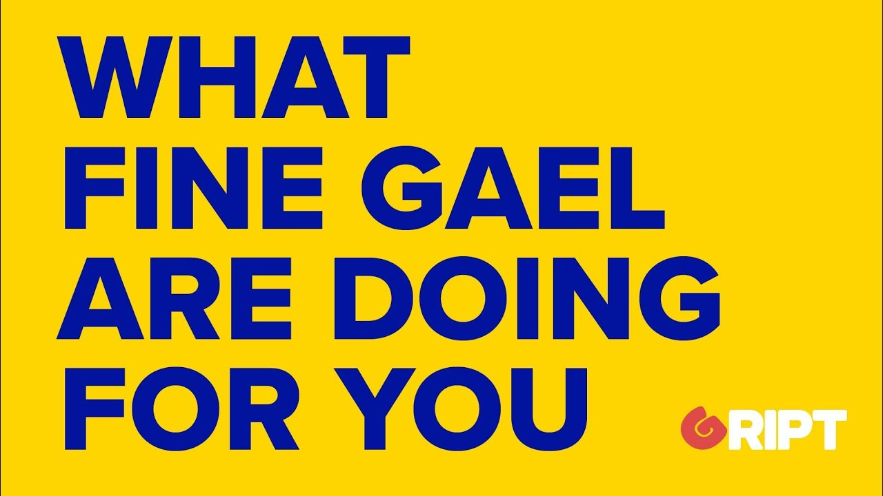 What the Fine Gael election video might say ..... #griptcomment