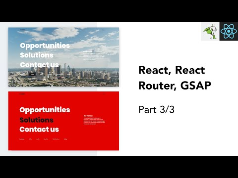 Code an Animated Menu using React and GSAP Tutorial | Part 3 thumbnail
