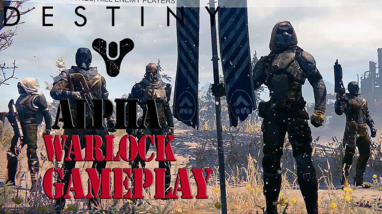 Destiny alpha ps4 warlock class gameplay youtube