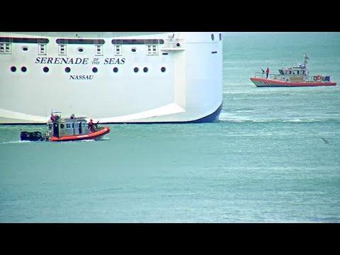 Coast Guard Gun Boats Escort Cruise Ship Key West 2/22/2018