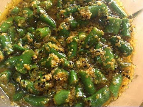 Green Chilli Pickle (Hari Mirch Achar) By Chef Shaheen