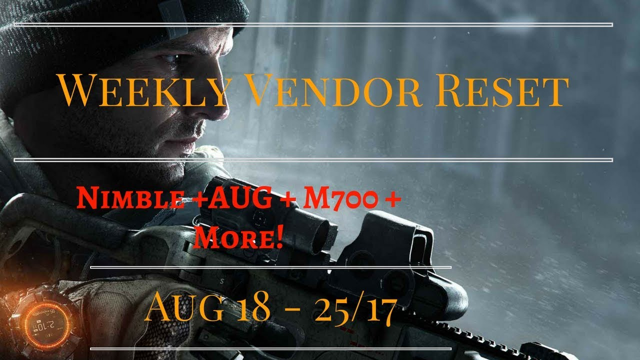 the division weekly vendor reset