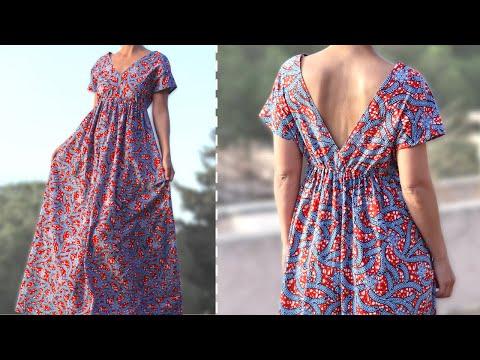 Tuto couture : la grande robe d'été sans patron ✨ Marion Blush