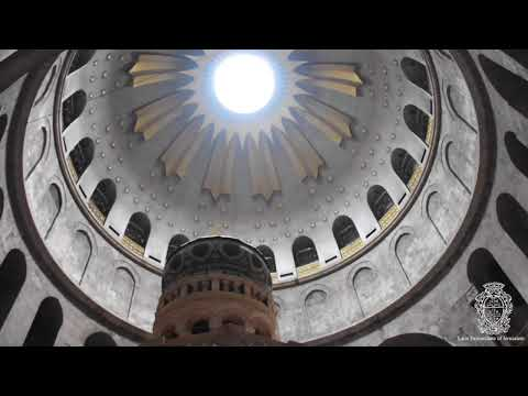 Post-restoration work of tomb of Jesus at the Holy Sepulcher