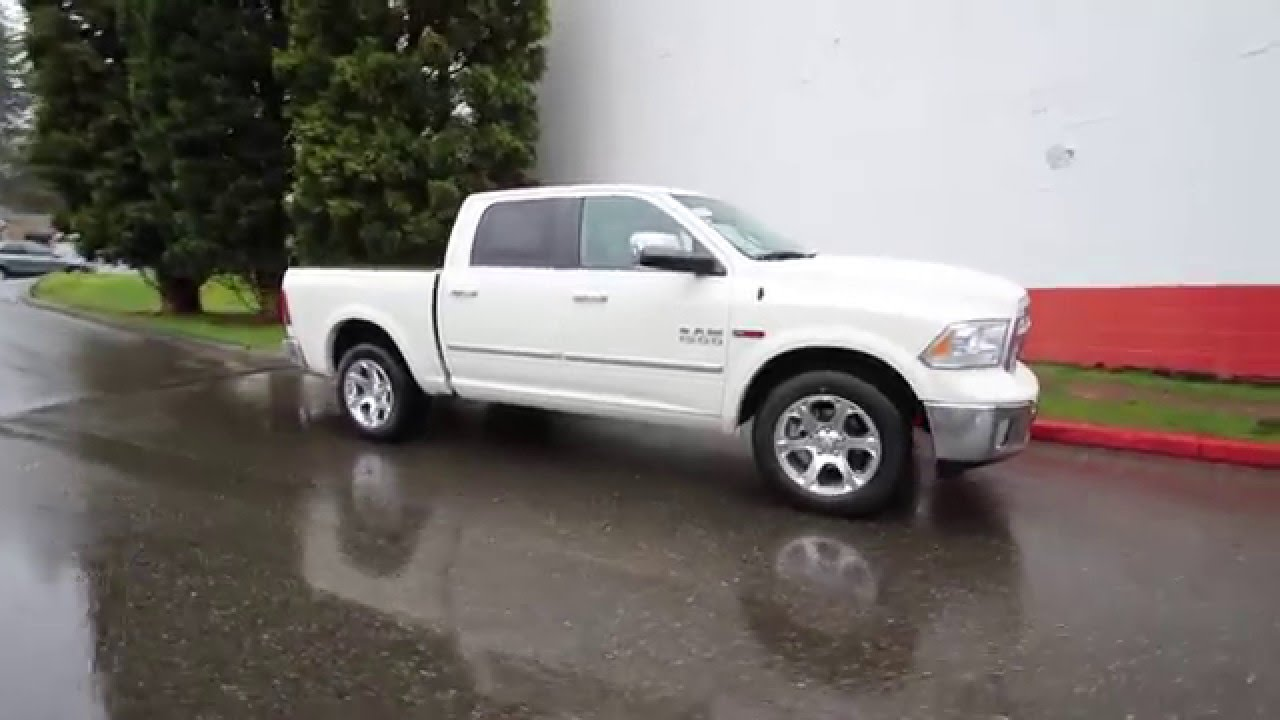 2016 Dodge Ram 1500 Laramie Pearl White Gs206200