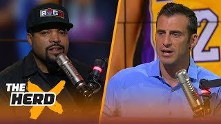 Ice Cube on Lakers being Magic's team, Melo-D'Antoni reunion and Big 3 playoffs | NBA | THE HERD