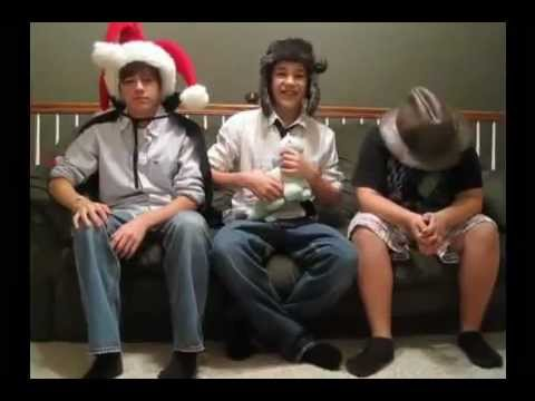 Austin Mahone, Alex Constancio, and Cameron Ball acting out Ghost in the Machine