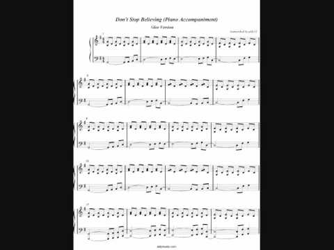 Piano : piano tabs dont stop believing journey Piano Tabs or Piano ...