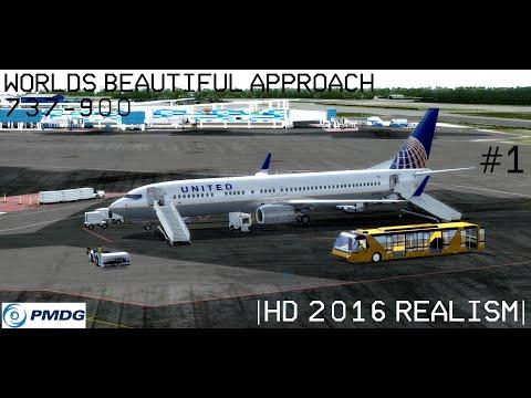 PMDG737-900 UNITED World's Beautiful Approach Aerosoft Nassau #1