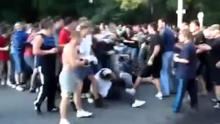 HOOLIGANS FIGHT - ROSTOV vs. LOKOMOTIV MOSCOW (RUSSIA)