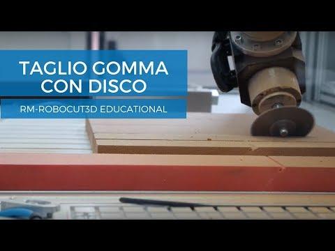 Taglio gomma con disco | RM-RoboCut3D Educational