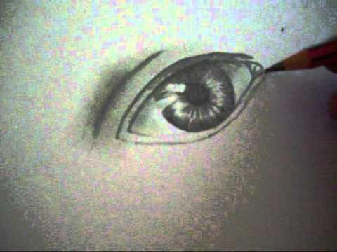 como dibujar un ojo tristewmv  YouTube