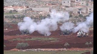 المدفعية التركية تسخن على ميليشيا أسد غرب حلب..وأردوغان يقول: معركة إدلب قد تبدأ بأي لحظة
