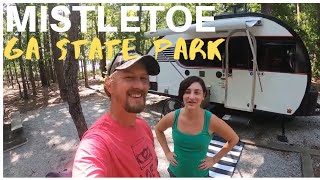 Mistletoe State Park Geoŗgia RV Camping: Camping with friends in our Little Guy Max