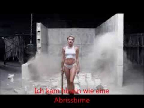 Wrecking Ball - Miley Cyrus - Deutsche Übersetzung - YouTube
