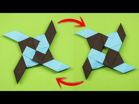 Origami ] How To Make a Paper Transforming Ninja Star - YouTube | 360x480