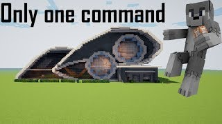 💯Minecraft:ULTRA MODERN HOUSE IN ONE COMMAND
