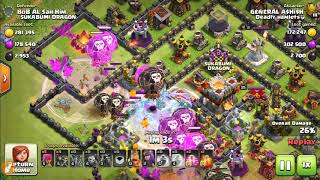 Clash of clans| Using builder portion with lavaloon attacks..... amazing tricks and methods...👌