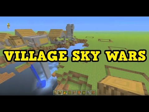 Minecraft Xbox - VILLAGE SKY WARS BUILDING