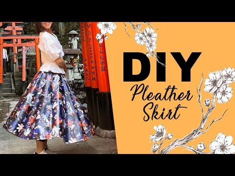 DIY Pleather Skirt (EASY) | Tips For Sewing Pleather