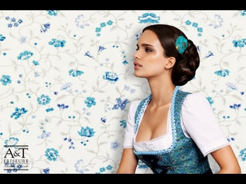 a t dirndl frisuren oktoberfest frisuren youtube. Black Bedroom Furniture Sets. Home Design Ideas