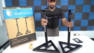 How to Assemble the RVSM1 (Near-Field Studio Monitor Stands w/ Adjustable Height)