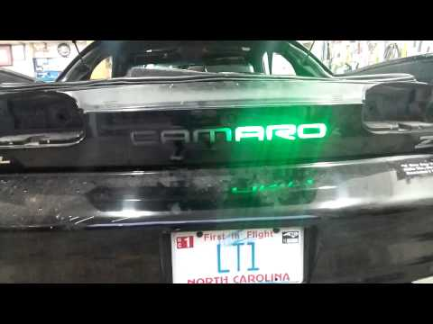 93-02 Camaro Light Up Berger Panel.