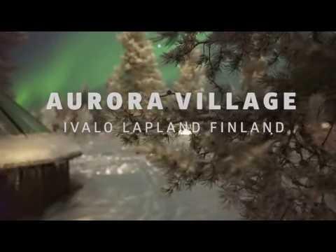 Amazing Northern Lights at Aurora Village, Ivalo Lapland Finland