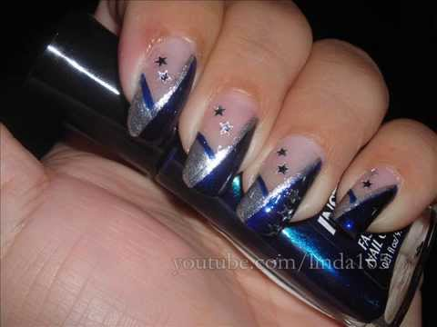 Nail Art Dallas Cowboys Decoracion De Uas Youtube