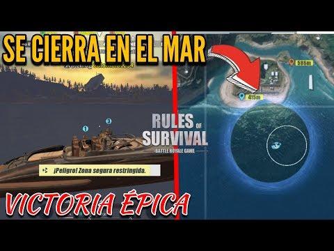 LA ZONA SE CIERRA EN EL MAR 😂 VICTORIA ÉPICA 🔥 RULES OF SURVIVAL