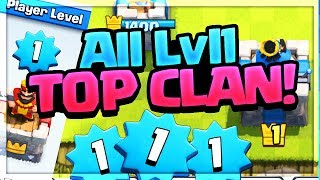 ALL LEVEL 1! Free Gems For The Top LVL1 Players in Clash Royale!