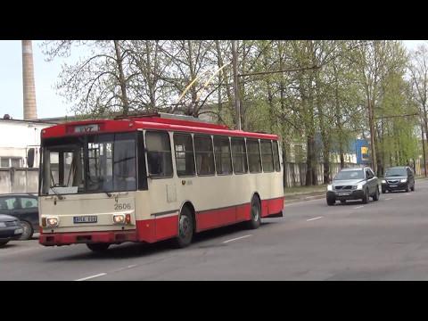 TROLLEYBUSES IN VILNIUS MAY 2017/ Vilniaus troleibusai VVT