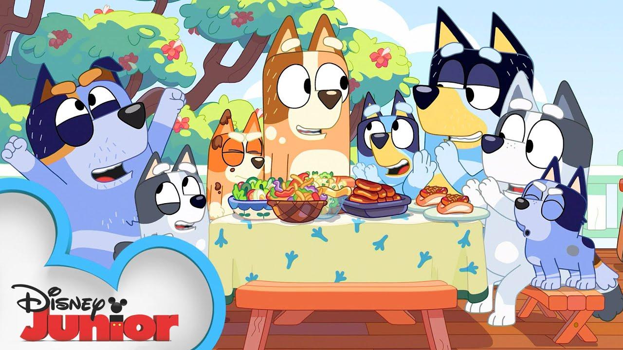 Play Make-Believe Kitchen with Bluey! 😋  Bluey   Disney Junior