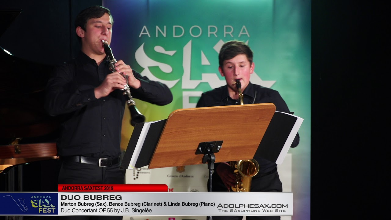 ANDORRA SAXFEST – Duo Bubreg – Duo concertant by J B  Singelee?
