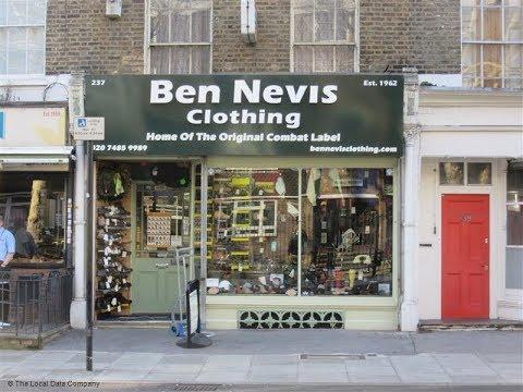 A Visit To BEN NEVIS CLOTHING CAMDEN TOWN 26 April 2018