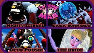 Ms. Splosion Man - All Boss Encounters - No Damage!!