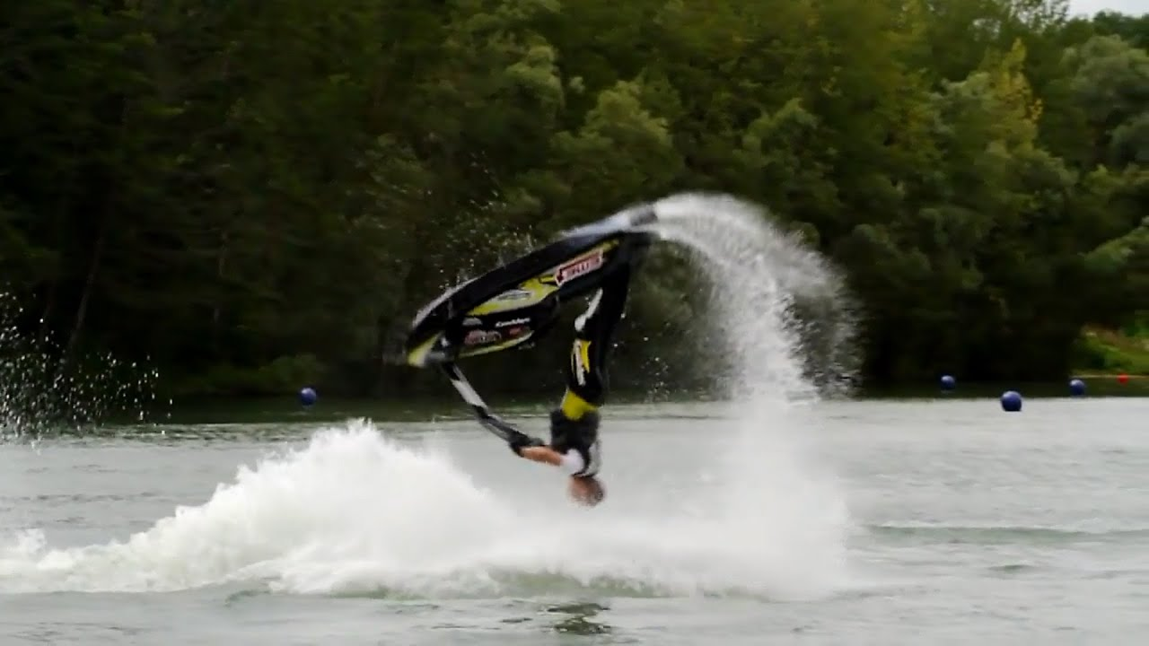 How To Backflip On Jet Ski Pwc Water Scooter Youtube