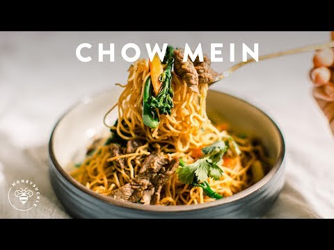 Incredibly Easy BEEF BROCCOLI CHOW MEIN 🍜Delish Noodle Series