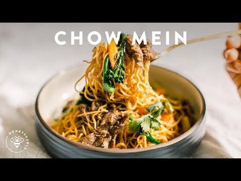 Incredibly Easy CHOW MEIN BEEF BROCCOLI 🍜Delish Noodle Series | HONEYSUCKLE
