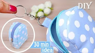 DIY MONEY POUCH BAG TUTORIAL | Keychain Idea 2018 Mini Bag Fast Making