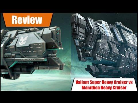 Halo Fleet Battles Marathon Heavy cruiser vs Valiant Super Heavy Cruiser