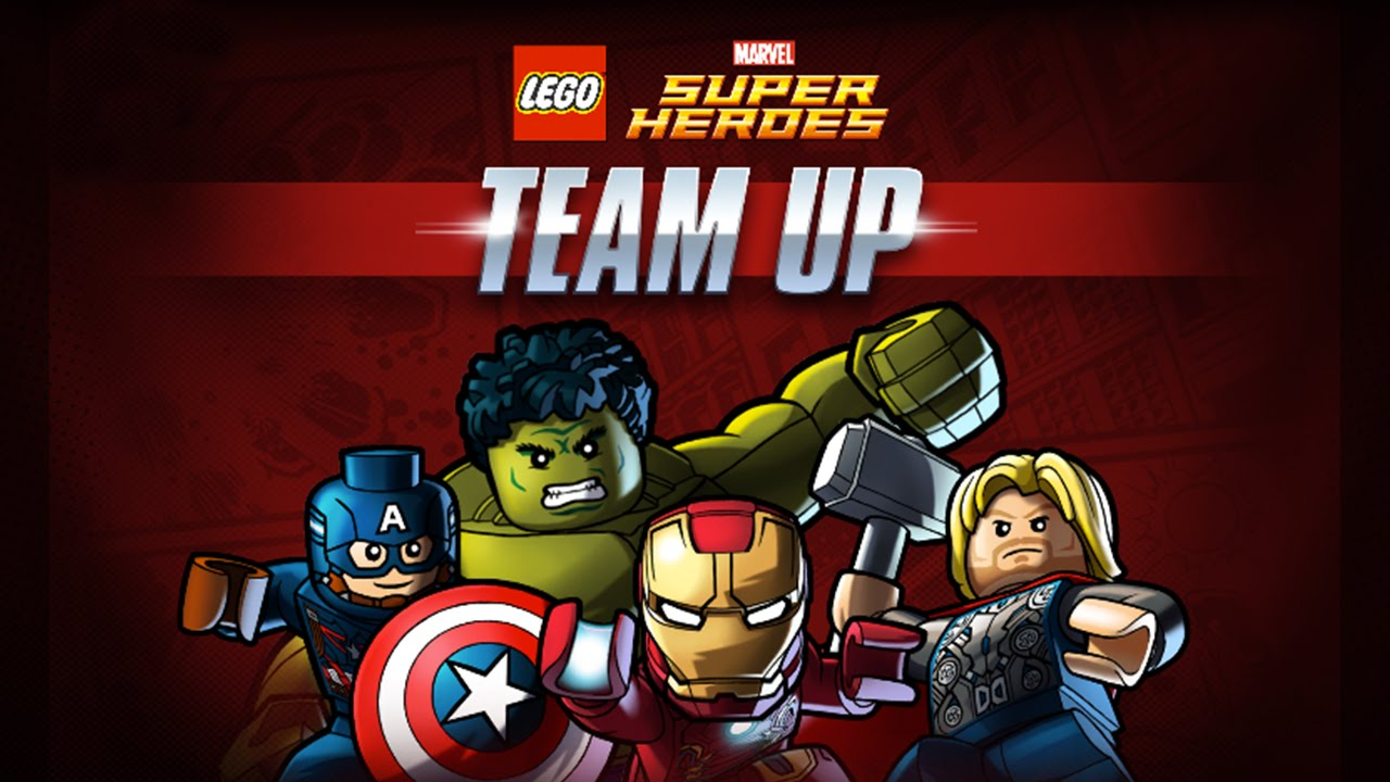Lego Marvel Super Heroes Team Up Avengers Fighting Action Youtube