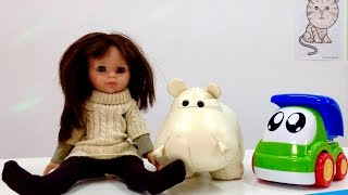 Английский для детей с Мэри! Животные на английском - бегемот.