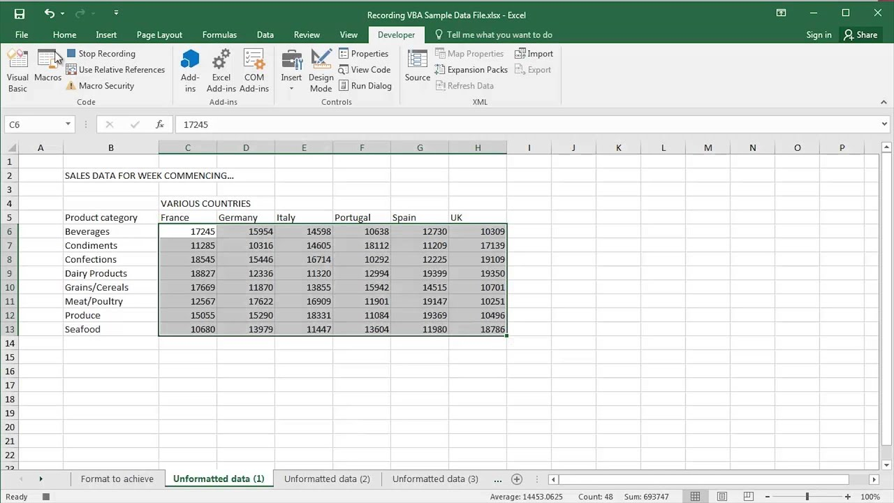 Display Folder Name In Excel - VBA Macro