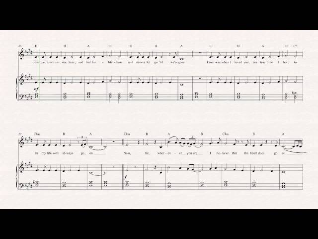 Violin - My Heart Will Go On - Celine Dion Sheet Music, Chords ...